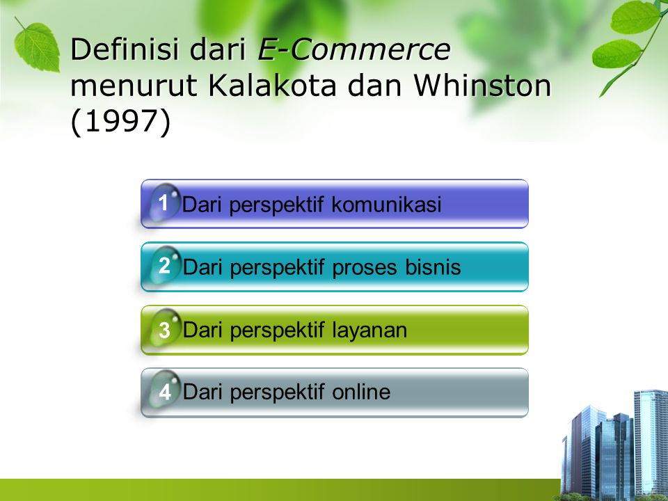 Jenis E-Commerce Business to Business Business to Consumer Consumer to consumer
