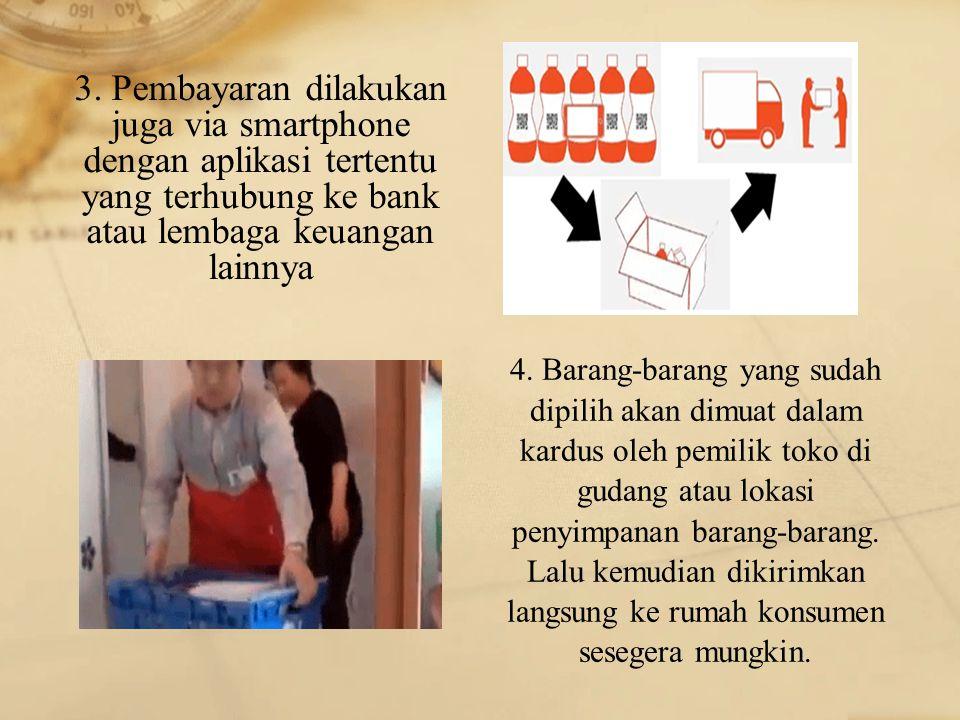 4. Barang-barang yang sudah dipilih akan dimuat dalam kardus oleh pemilik toko di gudang atau lokasi penyimpanan barang-barang. Lalu kemudian dikirimk