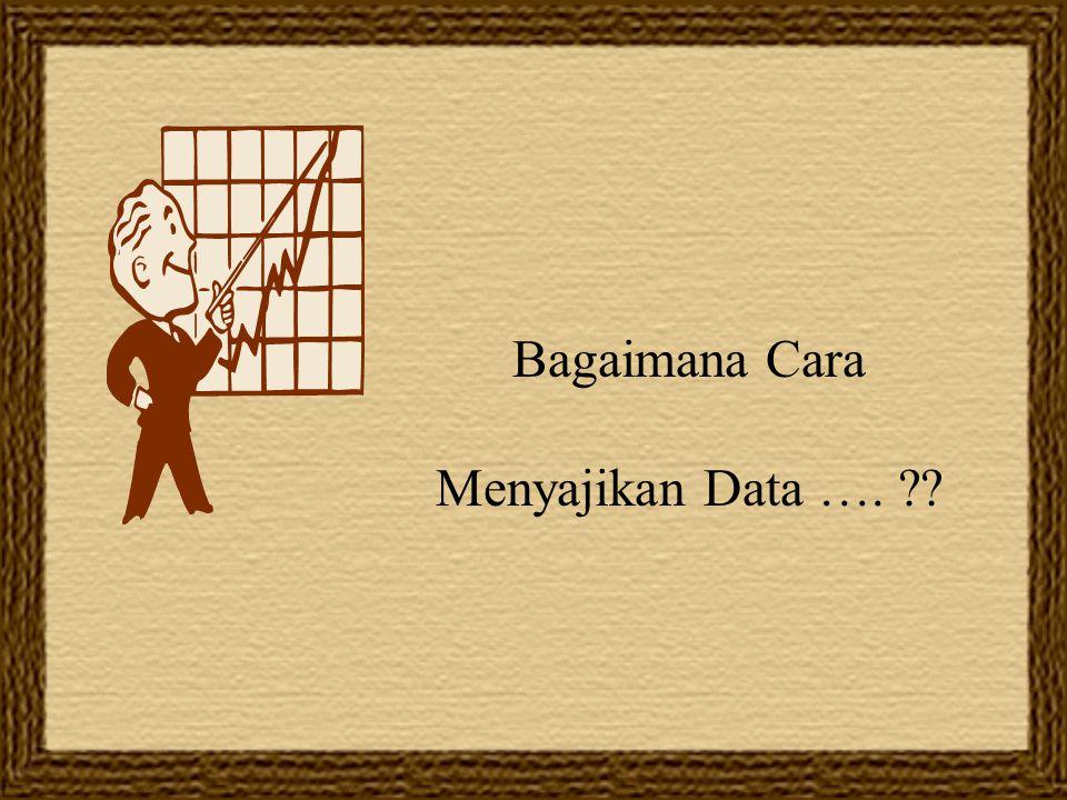 Bagaimana Cara Menyajikan Data …. ??