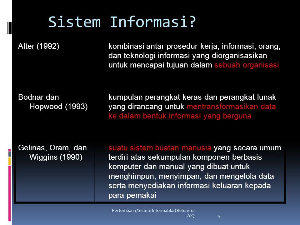 Pertemuan 1/Sistem Informatika (Referensi AK) 6 Apakah Sistem Informasi Itu.