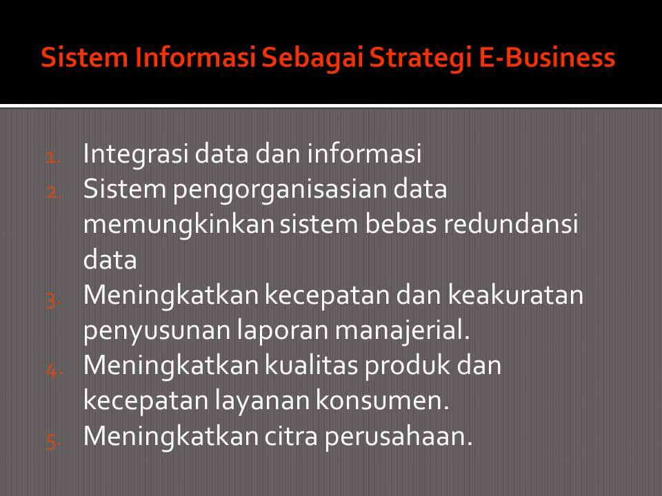 1. Integrasi data dan informasi 2. Sistem pengorganisasian data memungkinkan sistem bebas redundansi data 3. Meningkatkan kecepatan dan keakuratan pen