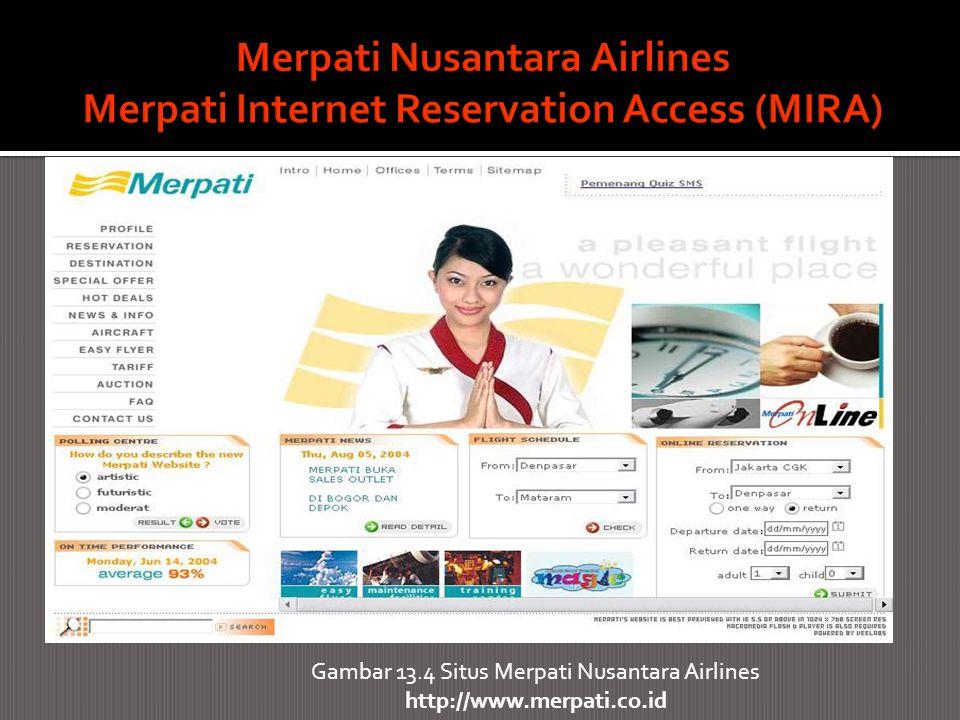 Gambar 13.4 Situs Merpati Nusantara Airlines http://www.merpati.co.id