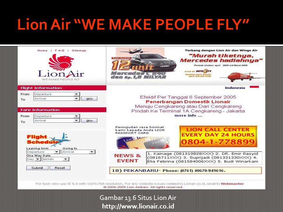 Gambar 13.6 Situs Lion Air http://www.lionair.co.id