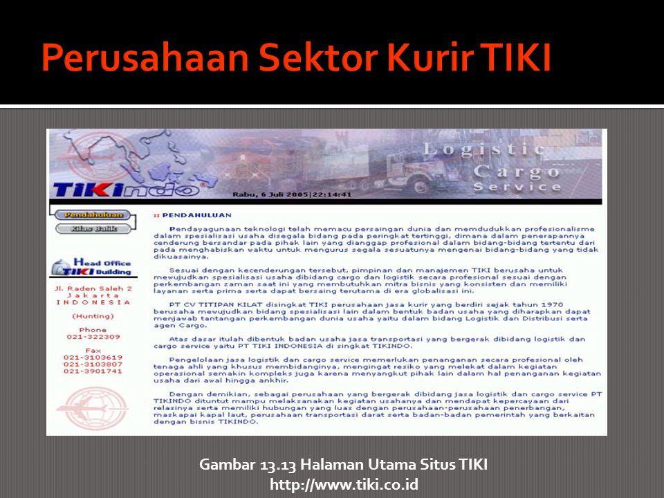 Gambar 13.13 Halaman Utama Situs TIKI http://www.tiki.co.id