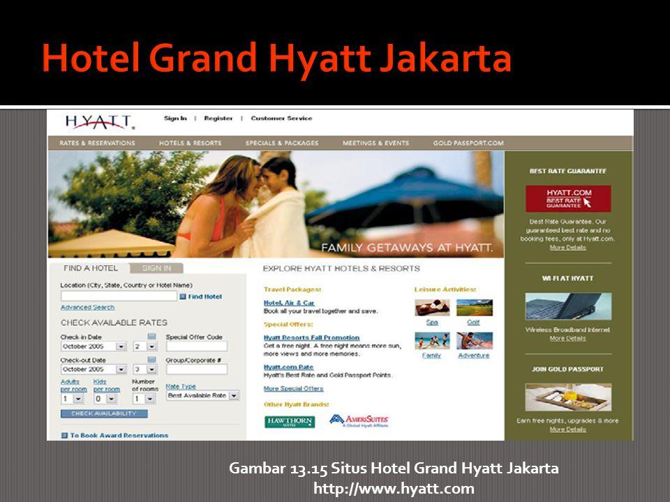 Gambar 13.15 Situs Hotel Grand Hyatt Jakarta http://www.hyatt.com