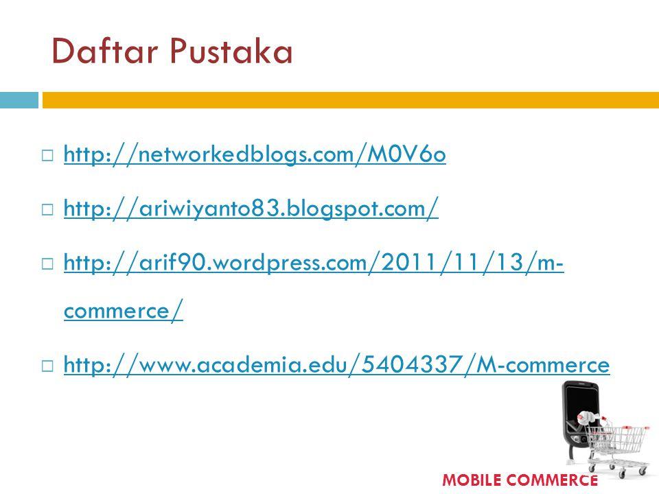 Daftar Pustaka  http://networkedblogs.com/M0V6o http://networkedblogs.com/M0V6o  http://ariwiyanto83.blogspot.com/ http://ariwiyanto83.blogspot.com/