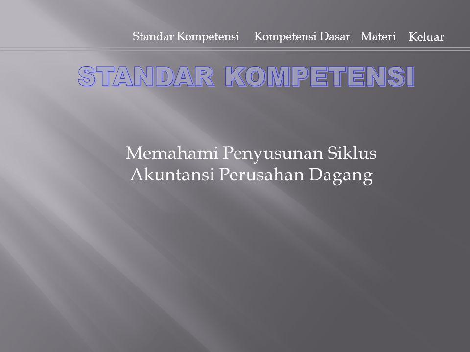 Standar KompetensiKompetensi Dasar Materi Keluar Memahami Penyusunan Siklus Akuntansi Perusahan Dagang