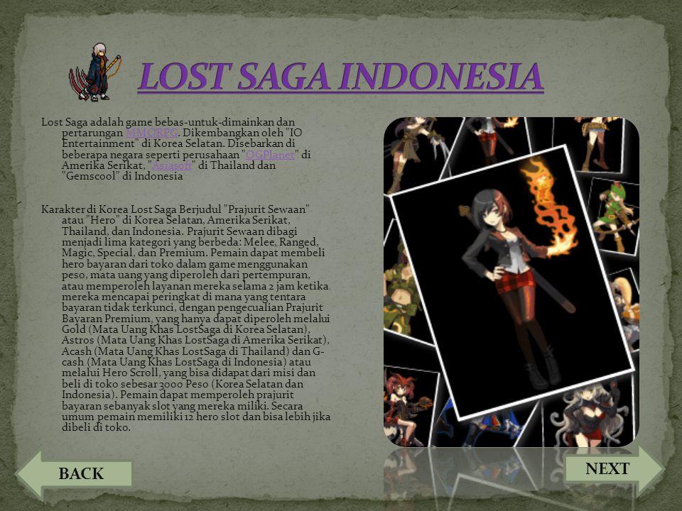 Lost Saga adalah game bebas-untuk-dimainkan dan pertarungan MMORPG. Dikembangkan oleh