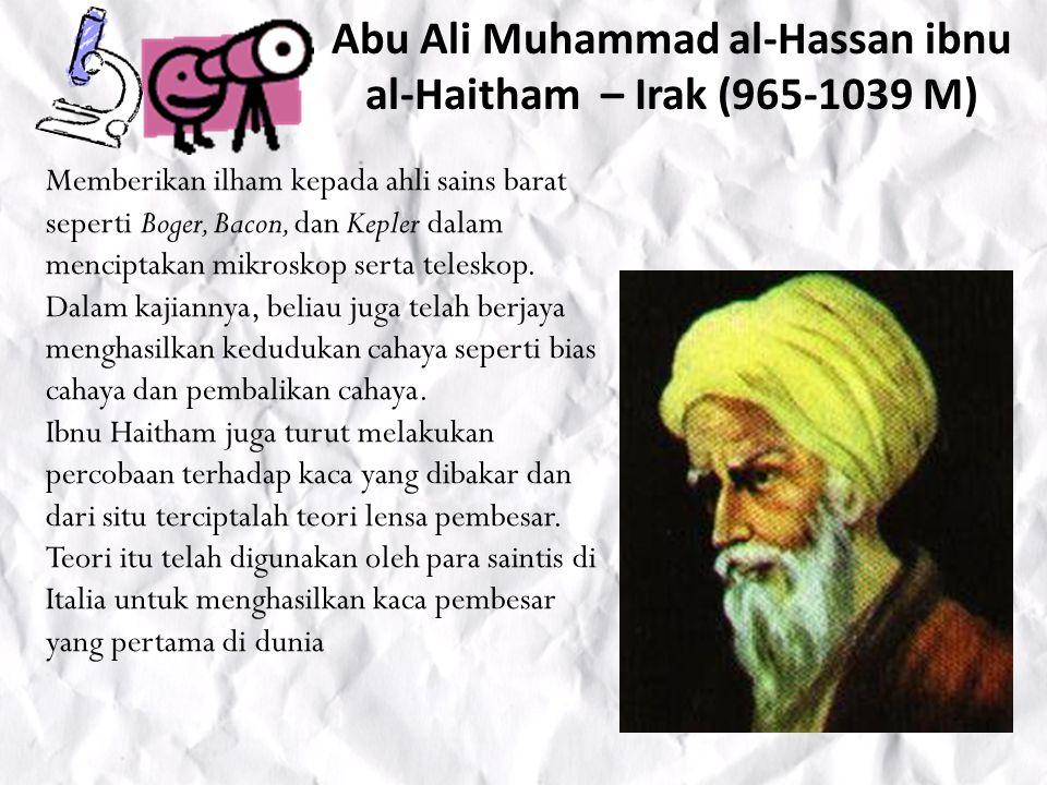Abul Qasim Khalaf ibn al-Abbas az- Zahrawi – Spanyol (936-1013 M) Di kalangan bangsa Moor Andalusia, dia dikenal dengan nama El Zahrawi .