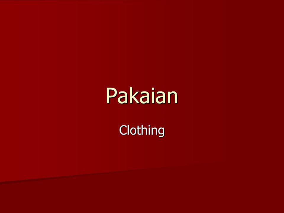 Pakaian Clothing