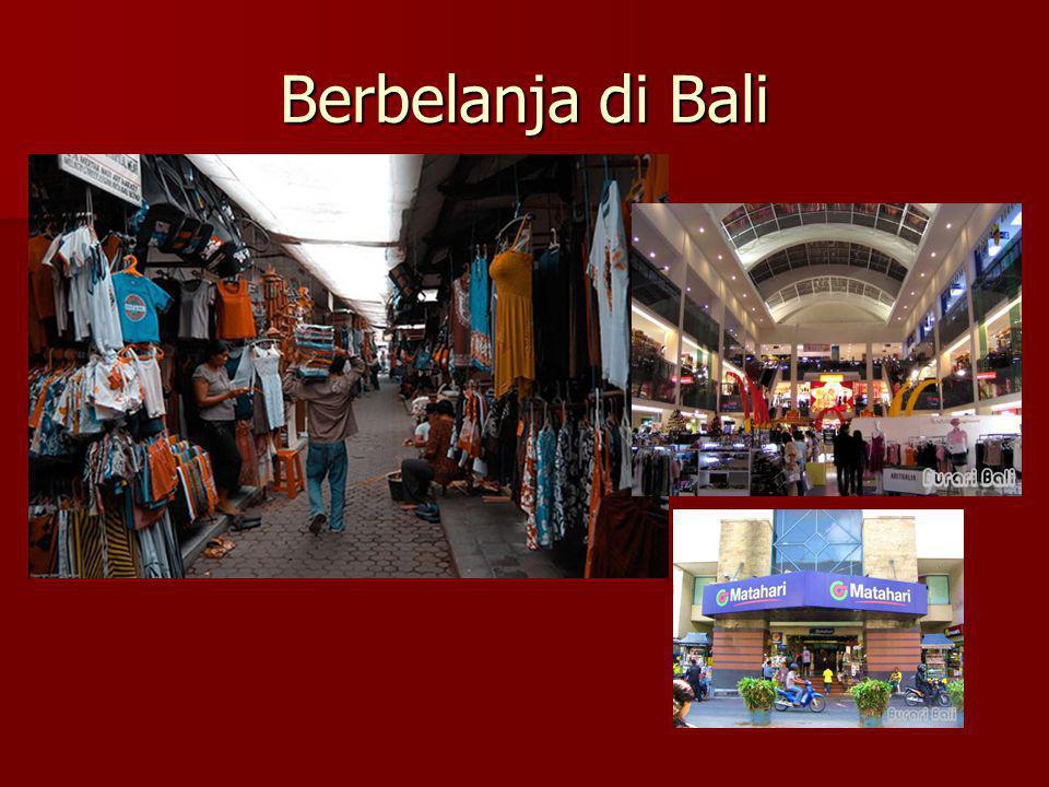 Berbelanja di Bali