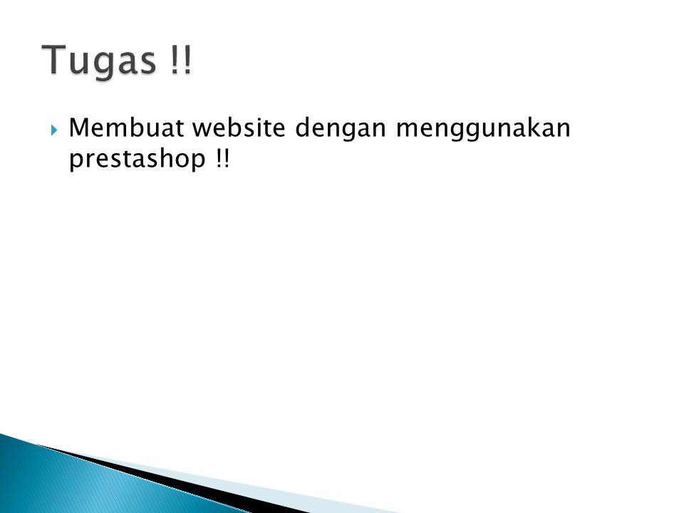  Membuat website dengan menggunakan prestashop !!