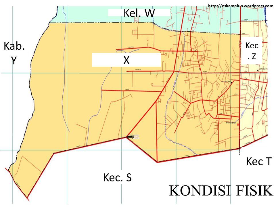 http://eskampiun.wordpress.com KONDISI FISIK X Kab. Y Kel. W Kec. Z Kec T Kec. S