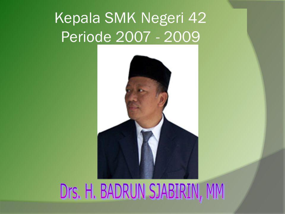 Kepala SMK Negeri 42 Periode 2006 - 2007