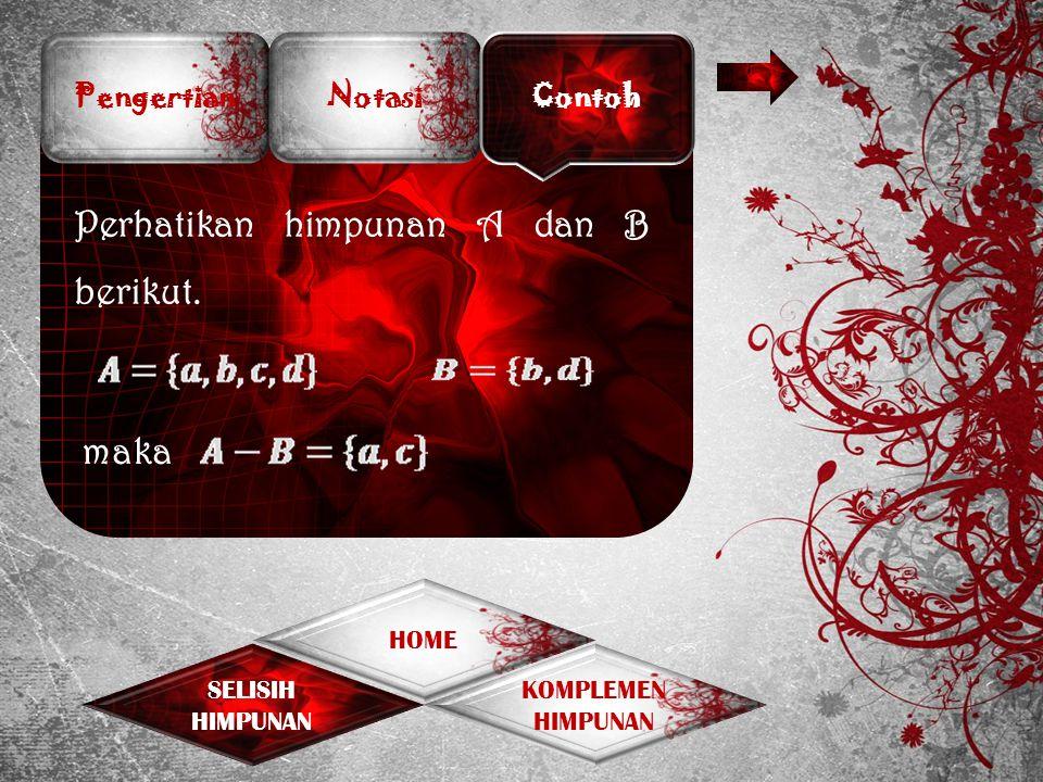 Diagram Venn Contoh Soal Penyelesaian KOMPLEMEN HIMPUNAN SELISIH HIMPUNAN HOME a c d b B A S