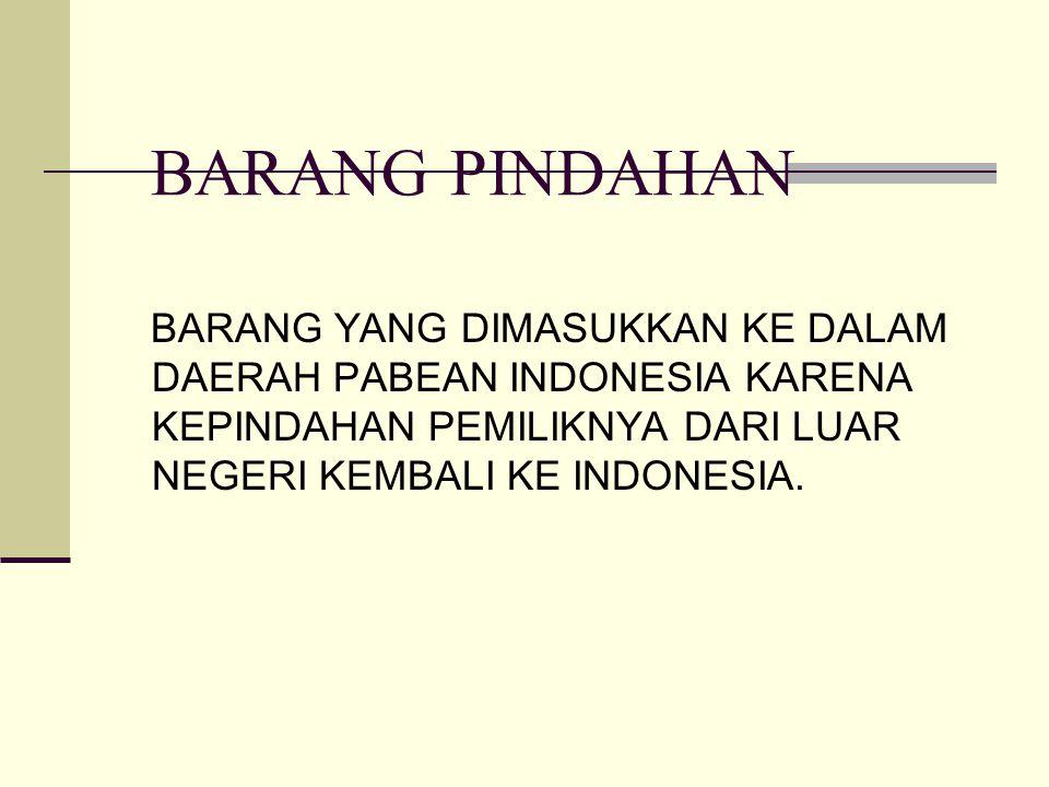 PASAL 25 UU No. 10/1995 Pembebasan BM diberikan atas impor; g.Barang untuk keperluan penelitian dan pengembangan ilmu pengetahuan; h.Barang untuk kepe