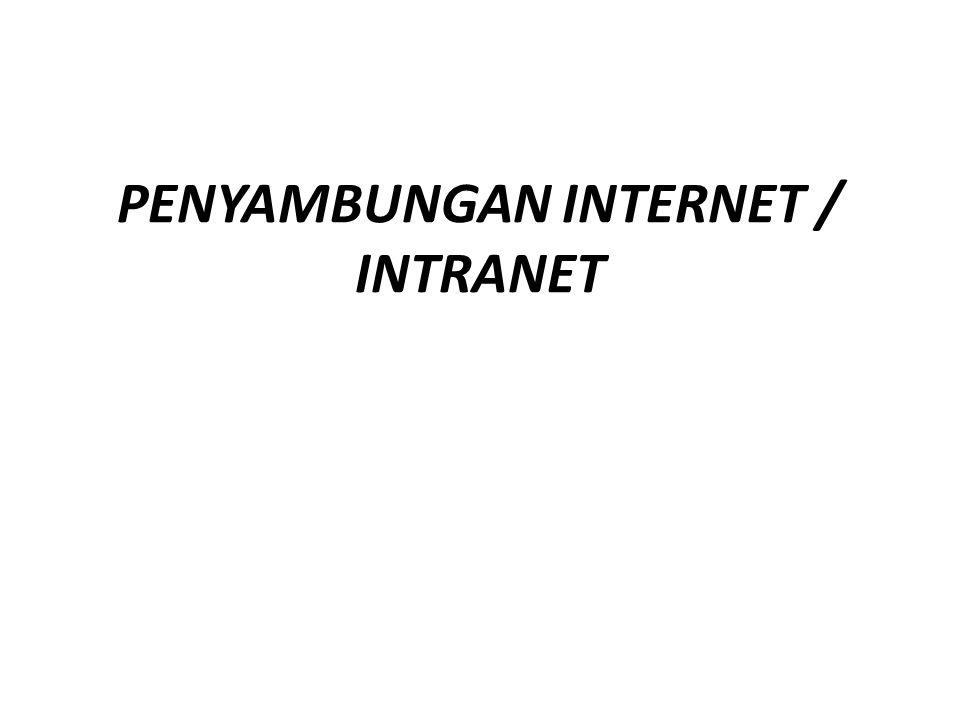 Standar Kompetensi 1.Memahami dasar-dasar penggunaan internet/ intranet Kompetensi Dasar 1.5.