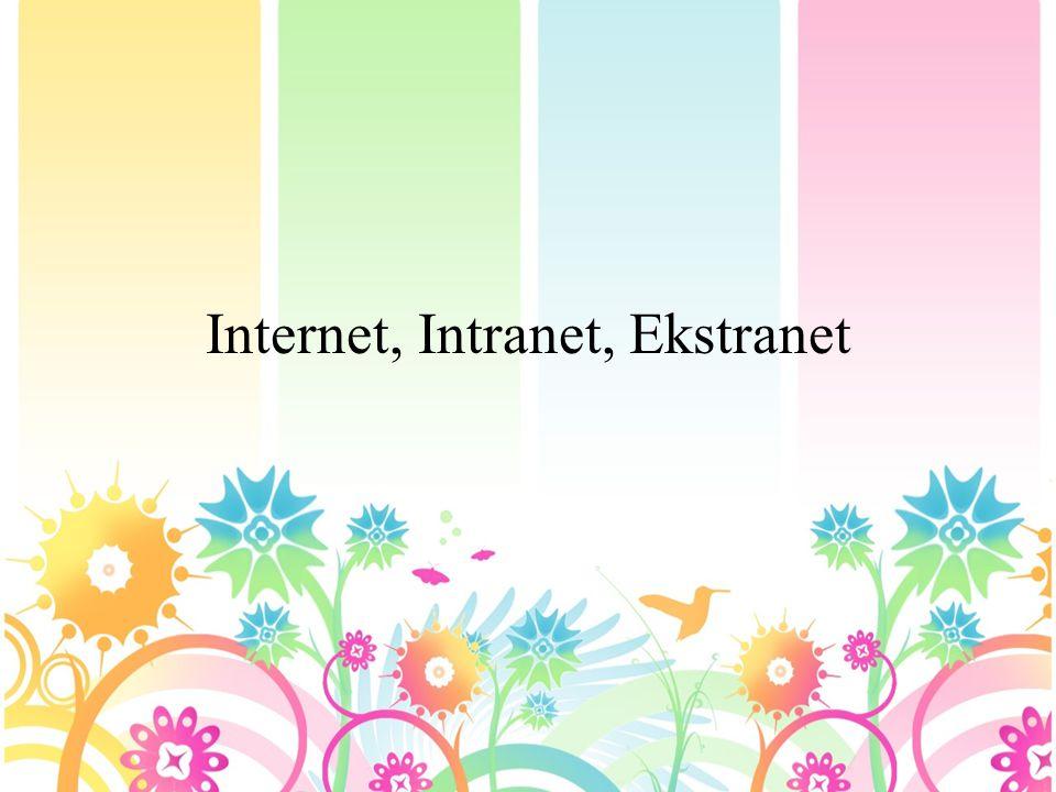 Definisi Internet • Internet yang berasal dari kata Interconnection Networking yang mempunyai arti hubungan komputer dengan berbagai tipe yang membentuk sistem jaringan yang mencakup seluruh dunia (jaringan komputer global) dengan melalui jalur telekomunikasi seperti telepon, radio link, satelit dan lainnya.