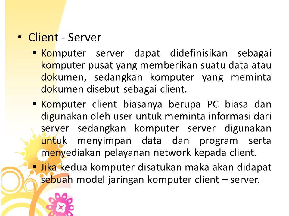 Komponen LAN • Komponen hardware yang dibutuhkan untuk membangun Intranet : o Komputer Server o Komputer Workstation o Network Interface Card (NIC) o Network Cable
