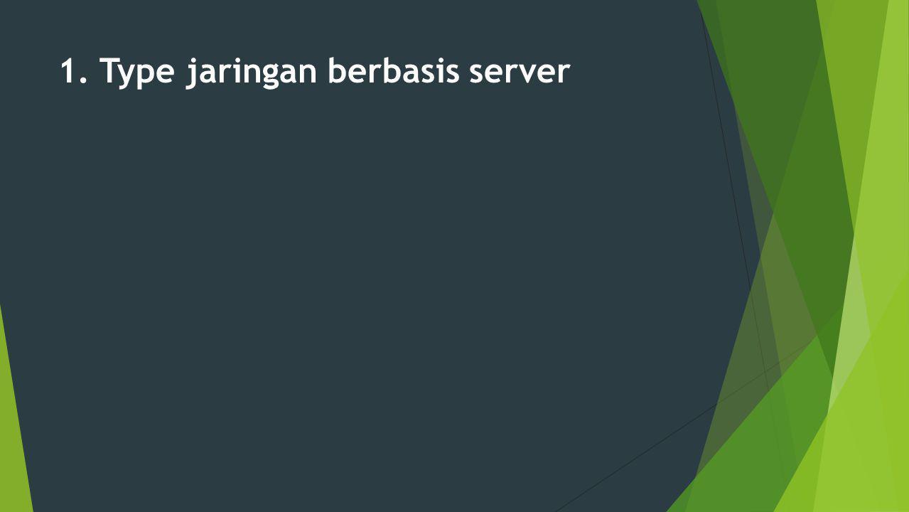 1. Type jaringan berbasis server