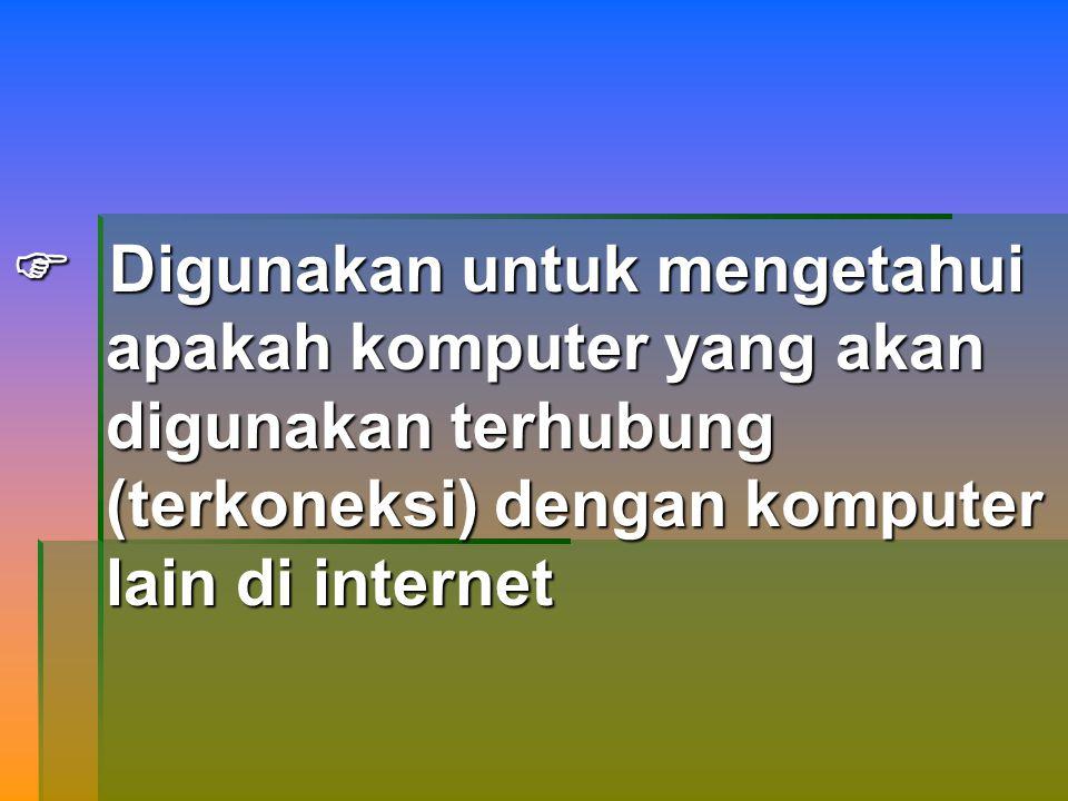 GOPHER  Aplikasi internet yang digunakan untuk mencari informasi yang ada di internet, hanya terbatas pada teks saja.`