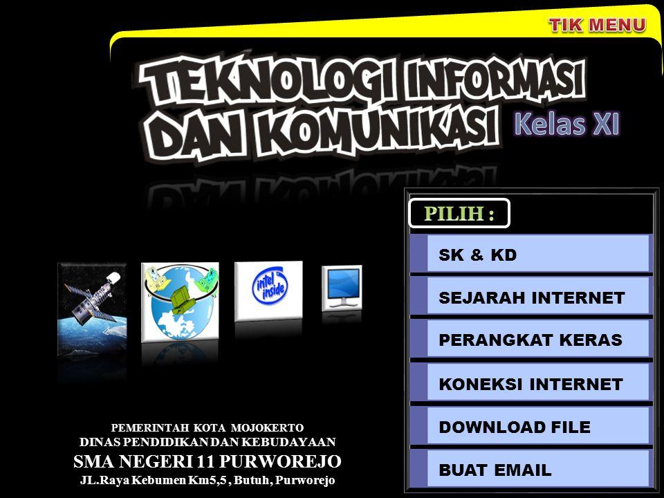 Perangkat Keras Dari sisi peralatan, konfigurasi sambungan internet adalah sebagai berikut : 1.Komputer a.Processor Minimal Pentium III 500 Mhz b.RAM 64 MB c.VGA Card 4 MB d.CDROM e.