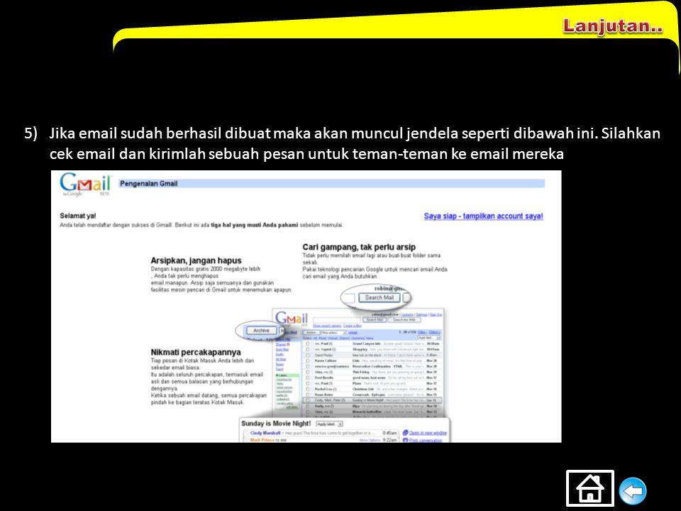 1)Masuk ke www.gmail.comwww.gmail.com 2)Klik Sign up ke Gmail 3)Muncul jendela baru yg harus diisi identitas kita 4)Jika form sudah diisi maka klik to