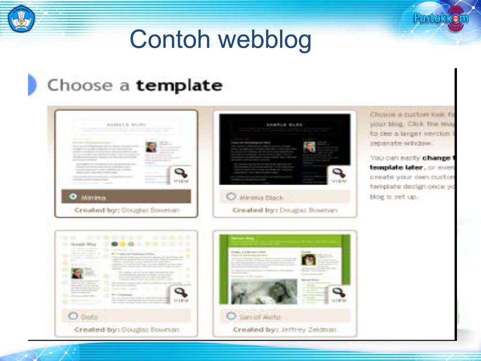 Contoh webblog