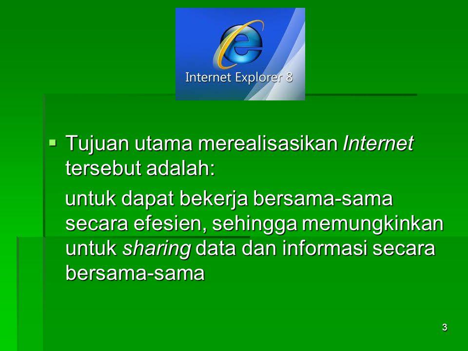 Komponen dan layanan internet a.WWW (layanan internet yang digunakan untuk memperoleh informasi atau melakukan transaksi barang).