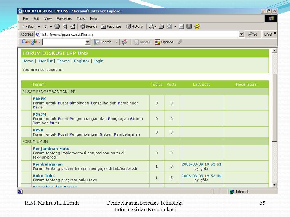 R.M. Mahrus H. EfendiPembelajaran berbasis Teknologi Informasi dan Komunikasi 65