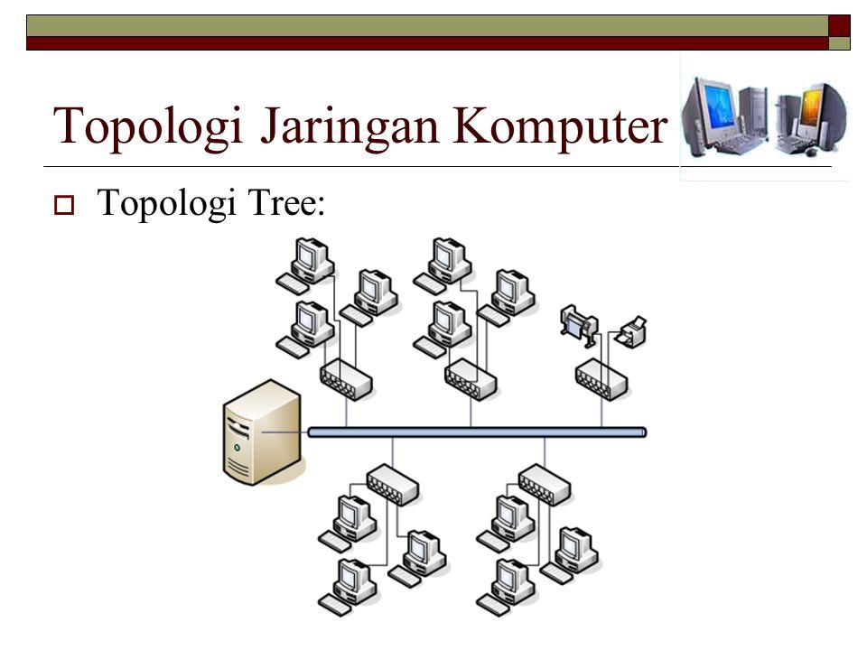 Topologi Jaringan Komputer  Topologi Tree: