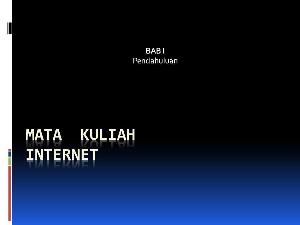 INTERNET Internet => sebutan untuk sekumpulan Jaringan komputer yang menghubungkan situs akademik, pemerintahan, komersial, organisasi maupun perorangan Internet menyediakan akses untuk layanan telekomunikasi dan sumber daya Informasi untuk jutaan pemakai yang tersebar di seluruh dunia