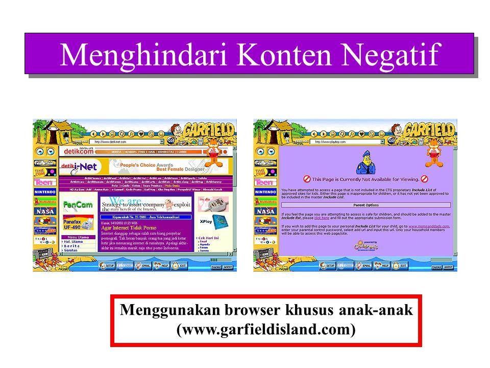 Menghindari Konten Negatif Menggunakan software khusus filter (www.we-blocker.com)