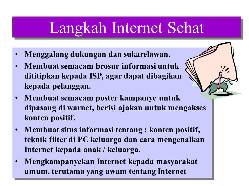Dengan memenuhi hak masyarakat untuk mendapatkan informasi dan pilihan , maka citra positif Internet terjaga, penetrasi Internet akan terpacu dan pemberdayaan masyarakat informasi akan terakselerasi.