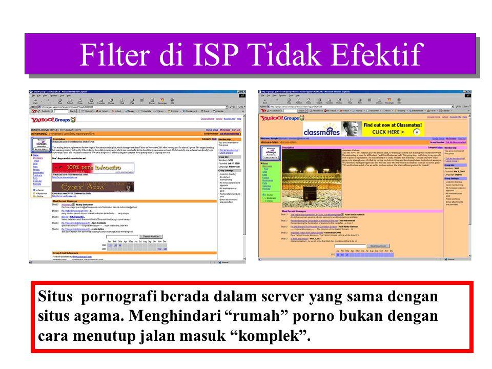 Filter di Rumah Tangga •Filter di rumah tangga bisa efektif apabila keluarga bisa mendapatkan informasi yang memadai.
