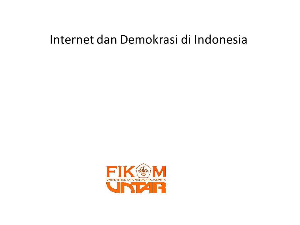 Teknologi Komunikasi Untuk Demokrasi Baru • SBY and Twitter • Obama and Twitter • Parlianment online (www.mpr.go.id/diskusi)www.mpr.go.id/diskusi • Quick Count • Online campaign • Government online • Etc