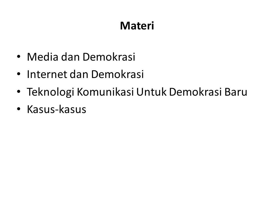 Media • Medius:tengah, perantara, atau pengantar • Media: alat pengantar informasi • Media: Cetak, elektronik (TV, radio, koran, dsb)