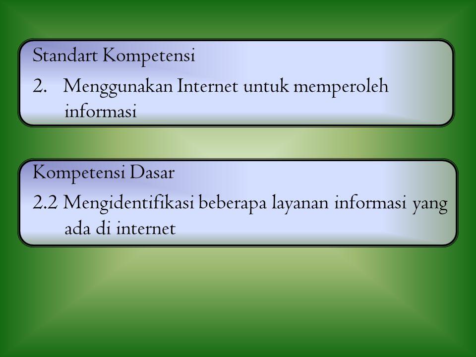 BEBERAPA LAYANAN DI INTERNET By : Dewi Rahmawati, S.Kom