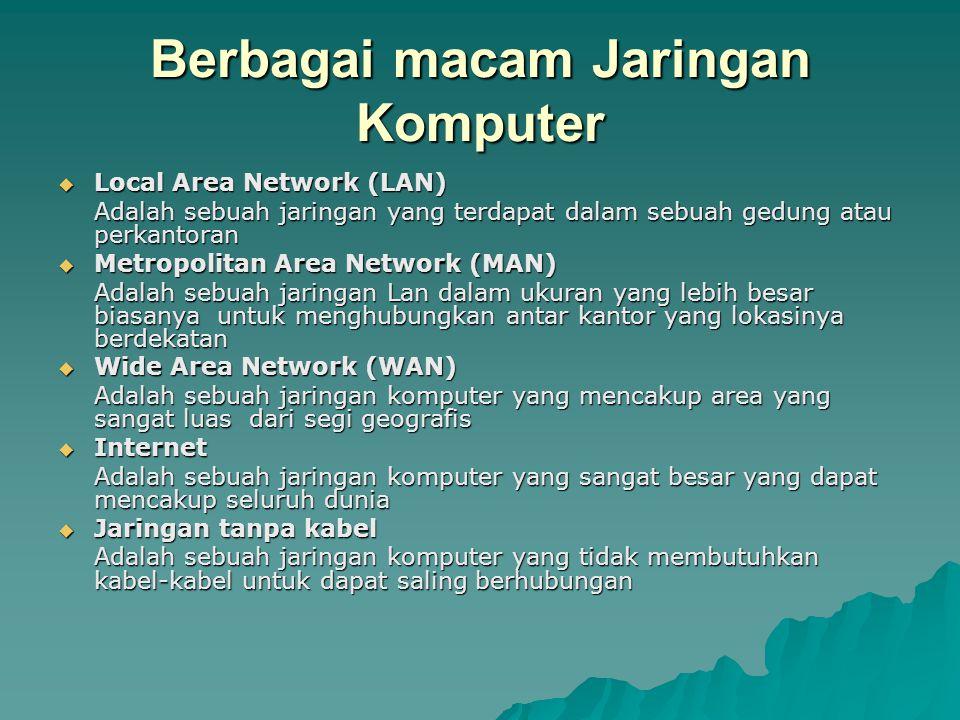 Mamfaat jaringan komputer  Dapat membagi sumber daya bersama  Reabilitas tinggi  Menghemat uang  Sebagai sarana komunikasi