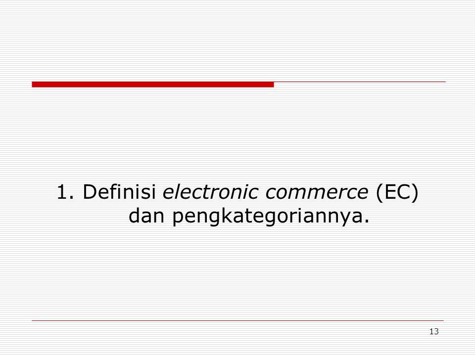 13 1. Definisi electronic commerce (EC) dan pengkategoriannya.