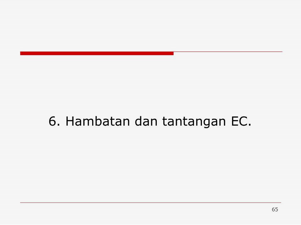 65 6. Hambatan dan tantangan EC.
