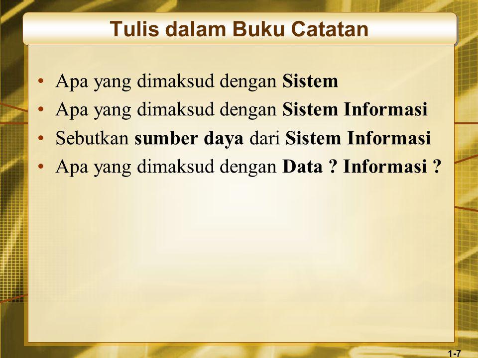 1-18 Komponen Sistem Informasi