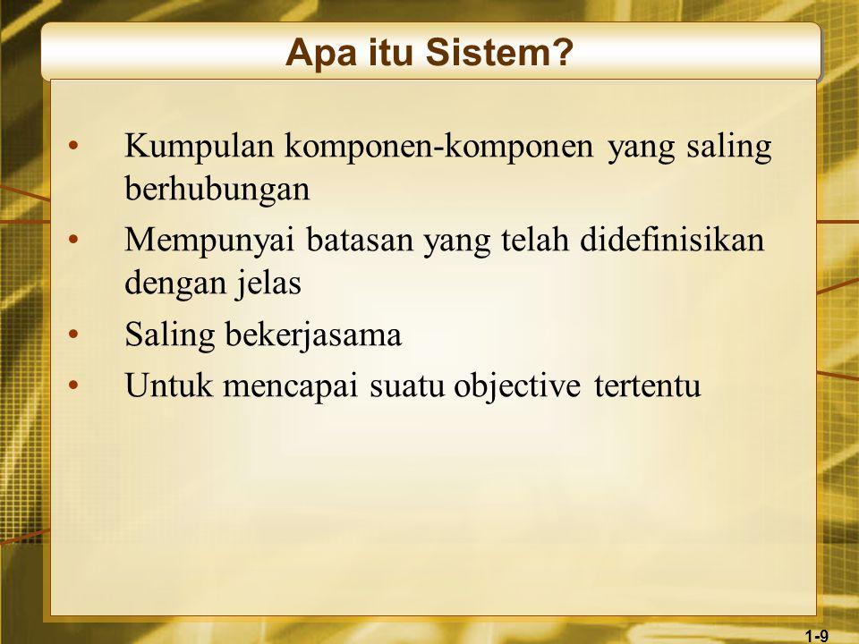 1-10 Apa itu Sistem Informasi.