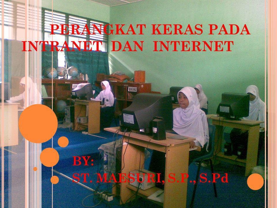 PERANGKAT KERAS PADA INTRANET DAN INTERNET BY: ST. MAESURI, S.P., S.Pd