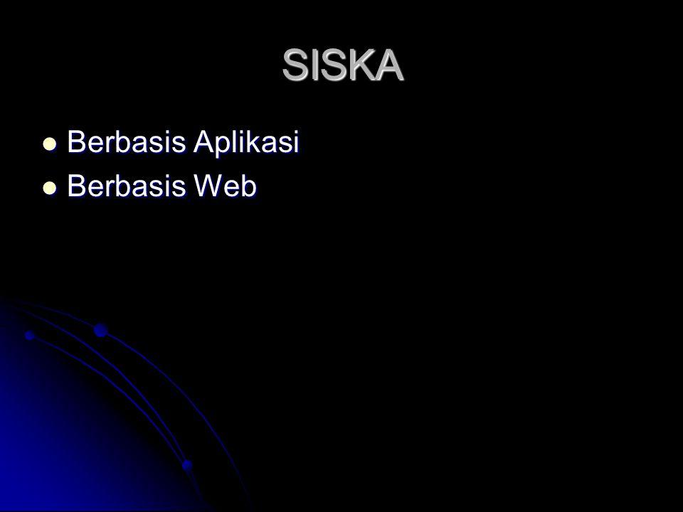 SISKA  Berbasis Aplikasi  Berbasis Web