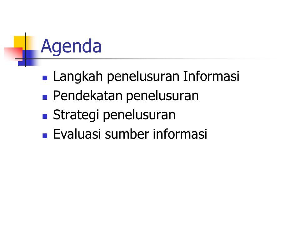 Langkah Penelusuran Informasi 1 1.