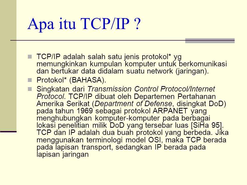 Apa itu TCP/IP .