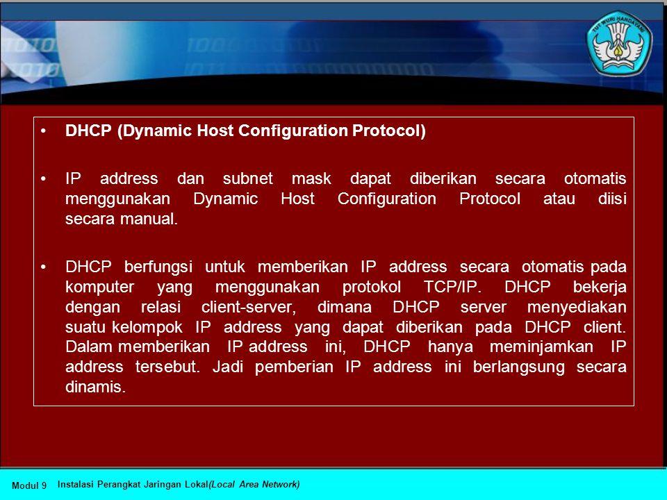 •Domain Name System (DNS) •Domain Name System (DNS) adalah suatu sistem yang memungkinkan nama suatu host pada jaringan komputer atau internet ditrans