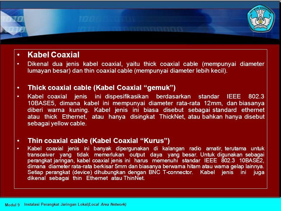 •Topologi Jaringan dan Jenis Kabel yang Sering Digunakan Topologi JaringanJenis kabel yang umum digunakan Topologi BusCoaxial, twisted pair, fiber Top