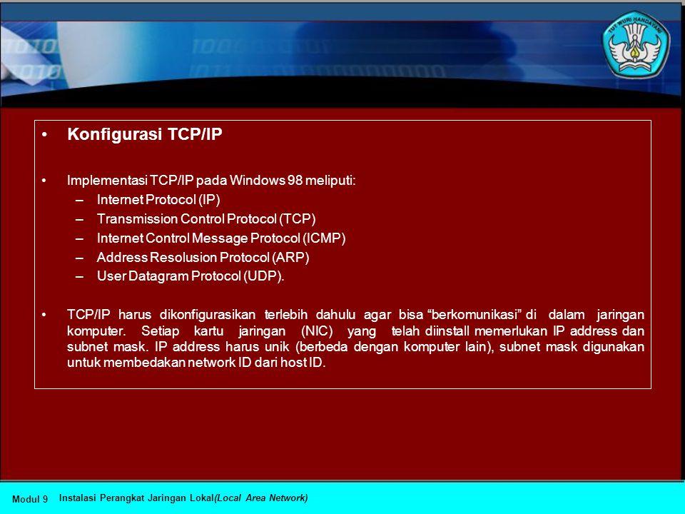 """•Menginstall Protokol Jaringan •Untuk dapat """"berkomunikasi"""" dalam jaringan komputer, komputer harus mempunyai protokol. •Prosedur yang dapat dilakukan"""